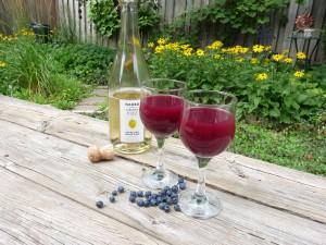 Blueberry wine cooler 2